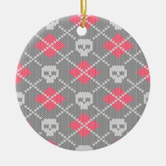 Hipster style skulls ornament