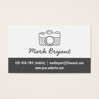 Hipster, Stylish, Camera Doodle, Photographer Business Card