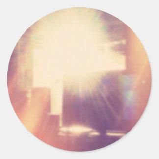 Hipster Sunlight Classic Round Sticker