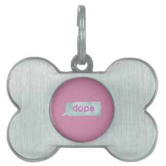 Hipster Teen Pet ID Tag
