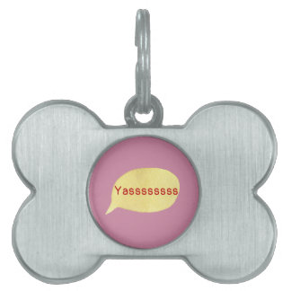 Hipster Teen Pet Tag