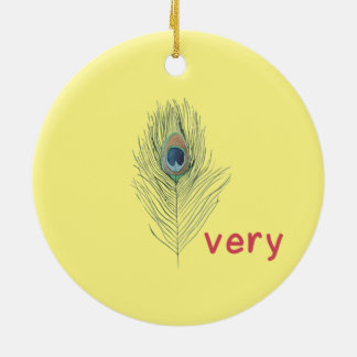 Hipster Teen Round Ceramic Ornament