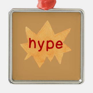 Hipster Teen Silver-Colored Square Ornament