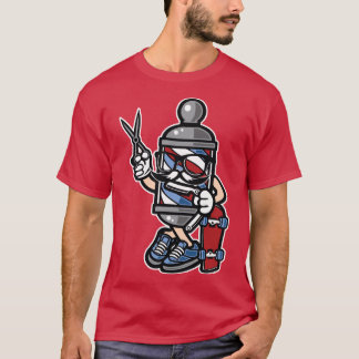 Hipster that's a Barber that's a Skater, dude T-Shirt