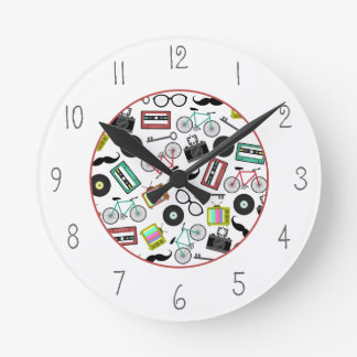 Hipster Themed Clock