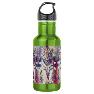 Hipster tiger - tiger art - triangle tiger - tiger 532 ml water bottle