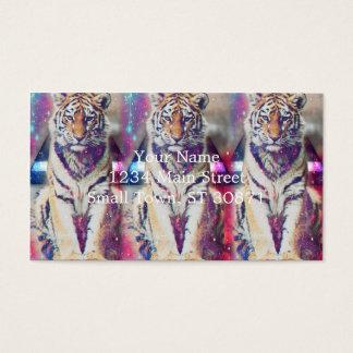 Hipster tiger - tiger art - triangle tiger - tiger business card