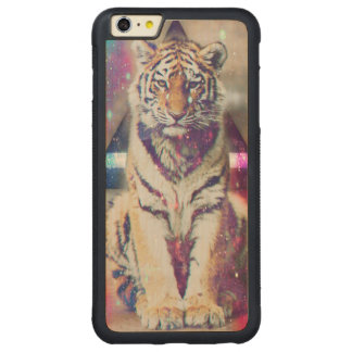Hipster tiger - tiger art - triangle tiger - tiger carved maple iPhone 6 plus bumper case