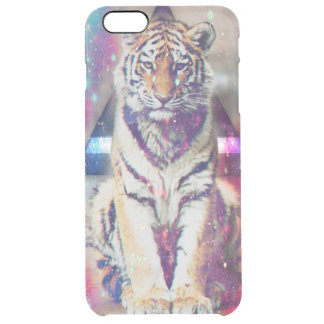 Hipster tiger - tiger art - triangle tiger - tiger clear iPhone 6 plus case