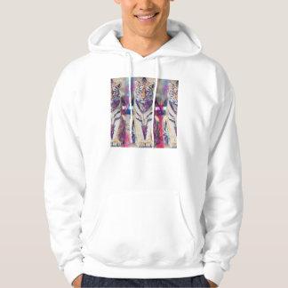Hipster tiger - tiger art - triangle tiger - tiger hoodie