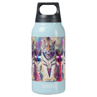 Hipster tiger - tiger art - triangle tiger - tiger insulated water bottle