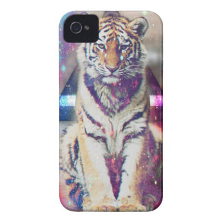 Hipster tiger - tiger art - triangle tiger - tiger iPhone 4 Case-Mate case