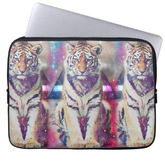 Hipster tiger - tiger art - triangle tiger - tiger laptop sleeve