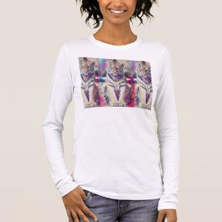 Hipster tiger - tiger art - triangle tiger - tiger long sleeve T-Shirt