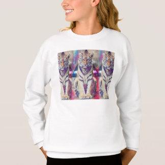 Hipster tiger - tiger art - triangle tiger - tiger sweatshirt