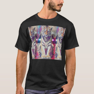 Hipster tiger - tiger art - triangle tiger - tiger T-Shirt