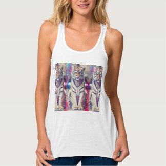 Hipster tiger - tiger art - triangle tiger - tiger tank top