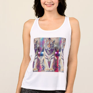 Hipster tiger - tiger art - triangle tiger - tiger tank top