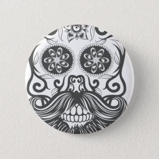 Hipster to sugar skull 1 2 inch round button