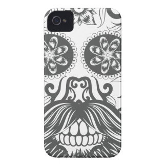 Hipster to sugar skull 1 Case-Mate iPhone 4 cases