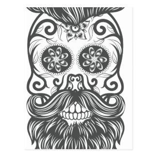 Hipster to sugar skull 1 postcard