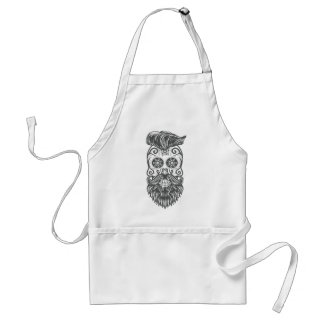 Hipster to sugar skull 1 standard apron