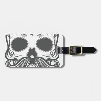 Hipster to sugar skull 2 luggage tag