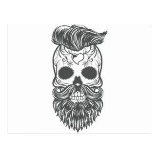 Hipster to sugar skull 2 postcard