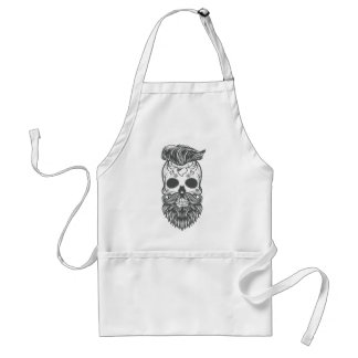 Hipster to sugar skull 2 standard apron
