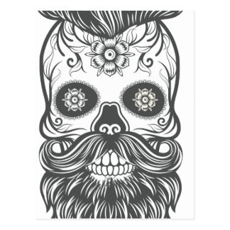 Hipster to sugar skull 3 postcard
