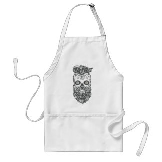 Hipster to sugar skull 3 standard apron