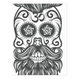 Hipster to sugar skull 4 postcard