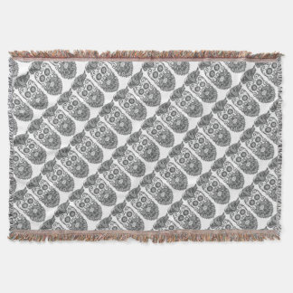 Hipster to sugar skull 4 throw blanket