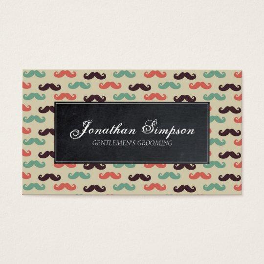 hipster vintage barber beard business card