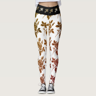 HIPSTER-WEAR-TOILE-ROSES-VINTAGE---LEGGING'S_XS-XL LEGGINGS