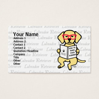Hipster Yellow Labrador Puppy Business Card