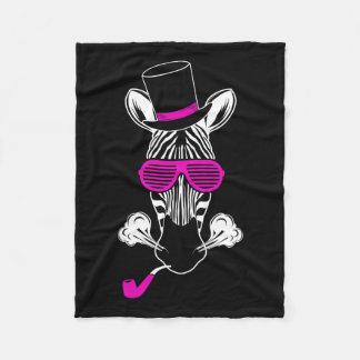 Hipster Zebra Fleece Blanket