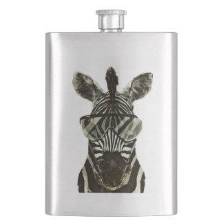Hipster Zebra Hip Flask