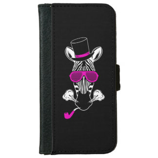 Hipster Zebra iPhone 6 Wallet Case