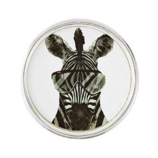 Hipster Zebra Lapel Pin