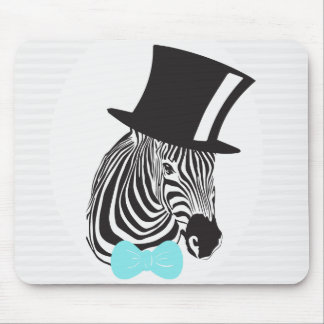 Hipster Zebra Mouse Pad