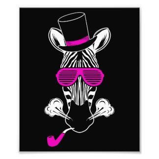 Hipster Zebra Photo Print
