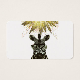 Hipster Zebra Style Animal Business Card