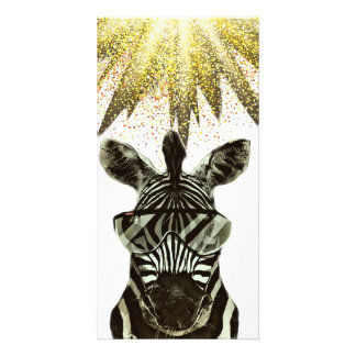 Hipster Zebra Style Animal Card