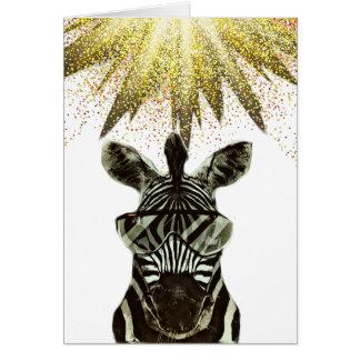 Hipster Zebra Style Animal Card
