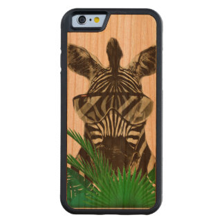 Hipster Zebra Style Animal Carved Cherry iPhone 6 Bumper Case