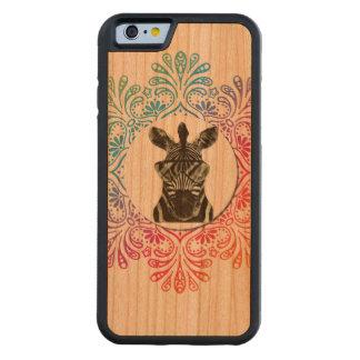 Hipster Zebra Style Animal Cherry iPhone 6 Bumper Case