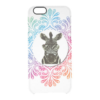 Hipster Zebra Style Animal Clear iPhone 6/6S Case