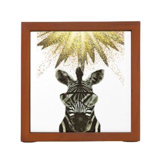 Hipster Zebra Style Animal Desk Organizer