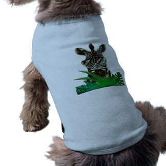 Hipster Zebra Style Animal Dog T-shirt